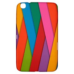 Colorful Lines Pattern Samsung Galaxy Tab 3 (8 ) T3100 Hardshell Case