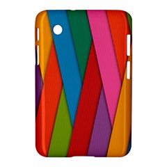 Colorful Lines Pattern Samsung Galaxy Tab 2 (7 ) P3100 Hardshell Case