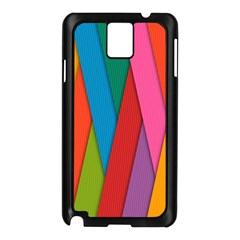 Colorful Lines Pattern Samsung Galaxy Note 3 N9005 Case (Black)