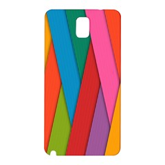 Colorful Lines Pattern Samsung Galaxy Note 3 N9005 Hardshell Back Case