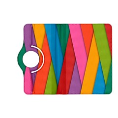 Colorful Lines Pattern Kindle Fire Hd (2013) Flip 360 Case