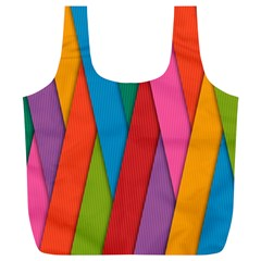 Colorful Lines Pattern Full Print Recycle Bags (L)