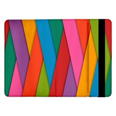 Colorful Lines Pattern Samsung Galaxy Tab Pro 12.2  Flip Case