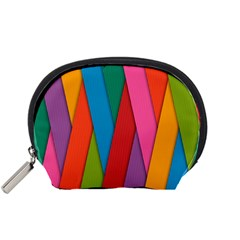 Colorful Lines Pattern Accessory Pouches (Small)
