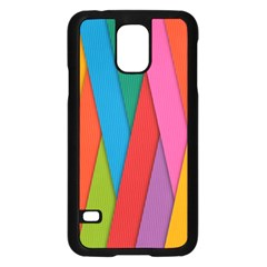 Colorful Lines Pattern Samsung Galaxy S5 Case (Black)