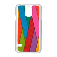 Colorful Lines Pattern Samsung Galaxy S5 Case (White)