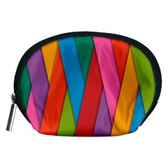 Colorful Lines Pattern Accessory Pouches (medium)