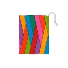 Colorful Lines Pattern Drawstring Pouches (Small)