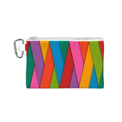 Colorful Lines Pattern Canvas Cosmetic Bag (s)