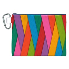 Colorful Lines Pattern Canvas Cosmetic Bag (xxl)