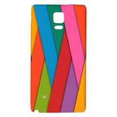 Colorful Lines Pattern Galaxy Note 4 Back Case