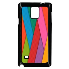 Colorful Lines Pattern Samsung Galaxy Note 4 Case (Black)