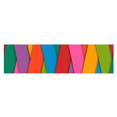 Colorful Lines Pattern Satin Scarf (Oblong)