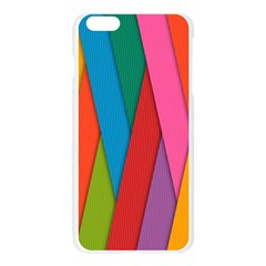 Colorful Lines Pattern Apple Seamless iPhone 6 Plus/6S Plus Case (Transparent)