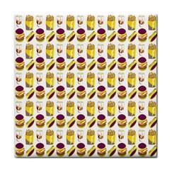 Hamburger And Fries Tile Coasters