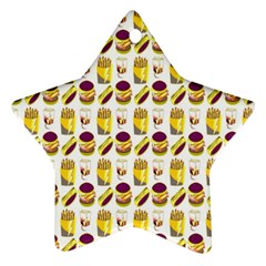 Hamburger And Fries Ornament (star)