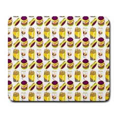 Hamburger And Fries Large Mousepads