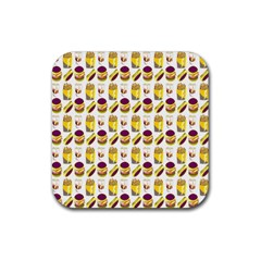 Hamburger And Fries Rubber Coaster (Square)