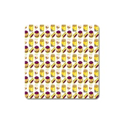 Hamburger And Fries Square Magnet