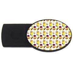 Hamburger And Fries USB Flash Drive Oval (2 GB)