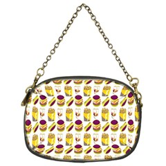 Hamburger And Fries Chain Purses (Two Sides)