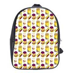Hamburger And Fries School Bags(Large)