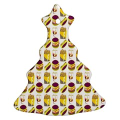 Hamburger And Fries Christmas Tree Ornament (Two Sides)