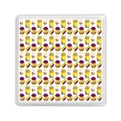 Hamburger And Fries Memory Card Reader (square)