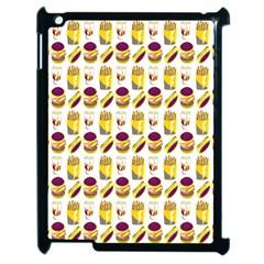 Hamburger And Fries Apple iPad 2 Case (Black)