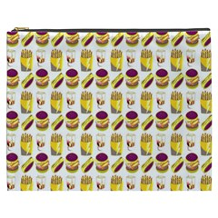 Hamburger And Fries Cosmetic Bag (XXXL)