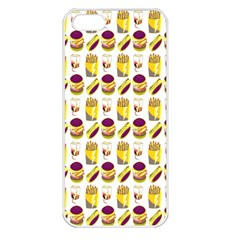 Hamburger And Fries Apple Iphone 5 Seamless Case (white)