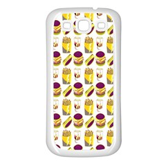 Hamburger And Fries Samsung Galaxy S3 Back Case (White)