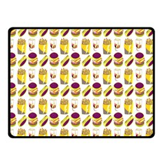Hamburger And Fries Double Sided Fleece Blanket (Small)