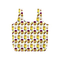 Hamburger And Fries Full Print Recycle Bags (S)