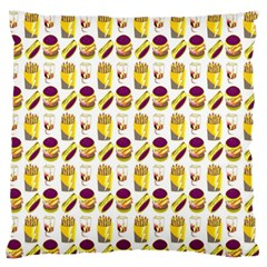 Hamburger And Fries Standard Flano Cushion Case (Two Sides)