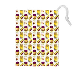 Hamburger And Fries Drawstring Pouches (Extra Large)