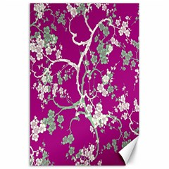 Floral Pattern Background Canvas 24  X 36