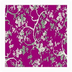 Floral Pattern Background Medium Glasses Cloth