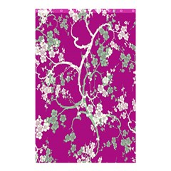 Floral Pattern Background Shower Curtain 48  x 72  (Small)