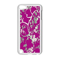Floral Pattern Background Apple iPod Touch 5 Case (White)