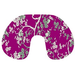Floral Pattern Background Travel Neck Pillows