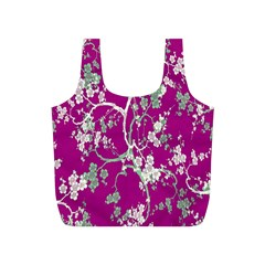 Floral Pattern Background Full Print Recycle Bags (s)
