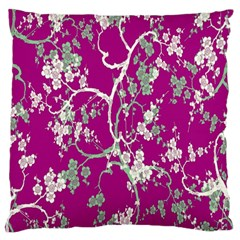 Floral Pattern Background Standard Flano Cushion Case (Two Sides)