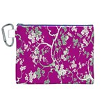 Floral Pattern Background Canvas Cosmetic Bag (XL) Front