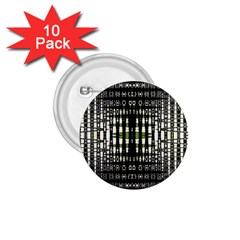 Interwoven Grid Pattern In Green 1.75  Buttons (10 pack)