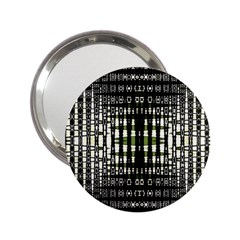 Interwoven Grid Pattern In Green 2 25  Handbag Mirrors