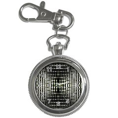 Interwoven Grid Pattern In Green Key Chain Watches