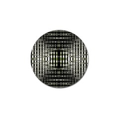 Interwoven Grid Pattern In Green Golf Ball Marker (4 pack)