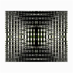 Interwoven Grid Pattern In Green Small Glasses Cloth