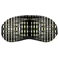 Interwoven Grid Pattern In Green Sleeping Masks